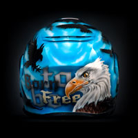 aerograf airbrush eagle bird born to be freedom