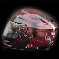 aerograf airbrush smok hell dragon helmet