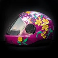 airbrush aerograf kask spadochronowy skydiving helmet maja kwiaty flowers
