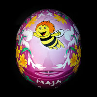 airbrush aerograf kask spadochronowy helmet maja pszczolka kwiaty
