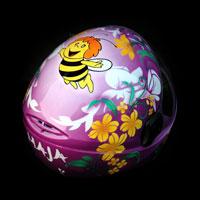 airbrush aerograf kask spadochronowy skydiving maja pszczolka kwiaty flowers