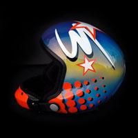 airbrush aerograf kask skydiving helmet myszka miki mouse