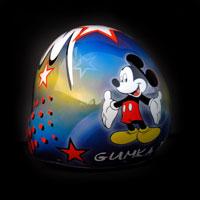 airbrush aerograf kask spadochronowy helmet myszka miki mickey