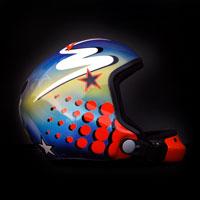 airbrush aerograf kask spadochronowy skydiving helmet myszka mickey mouse