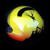 airbrush aerograf kask spadochronowy helmet skoczek tatry góry