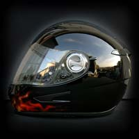 airbrush aerograf motorcycle motocykl helmet kask scorpion dragon smok ognie real flame