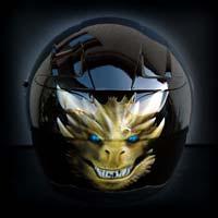 airbrush aerograf malowanie kasku motocykl helmet kask scorpion exo head smok ognie truefire flames