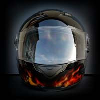 airbrush aerograf motorcycle helmet scorpion exo dragon smok truefire real flames