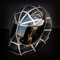 airbrush aerograf malowanie kasku motocykl helmet hjc is16 bad black graphite silver spiderman