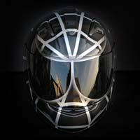 airbrush aerograf malowanie kasku motorcycle helmet hjc is16 bad venom graphite silver spiderman