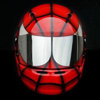 airbrush aerograf spiderman kask helmet