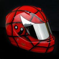 airbrush aerograf spider man kask helmet