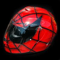 aerograf airbrush helmet kask spiderman