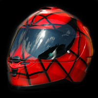 airbrush helmet spiderman
