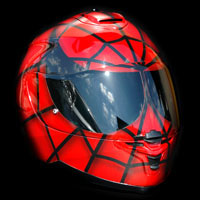 aerograf kask spiderman