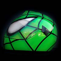 airbrush aerograf malowanie kasku  motocykl kask schuberth zielony green spiderman