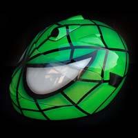airbrush aerograf motorcycle motocykl kask helmet zielony green spiderman fullface