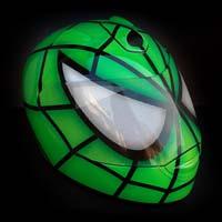 airbrush aerograf motorcycle kask helmet schuberth zielony spiderman fullface