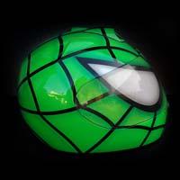 airbrush aerograf malowanie kasku motorcycle motocykl helmet schuberth zielony green spiderman