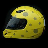 aerograf airbrush yellow spongebob kask helmet trzebinia