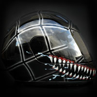 aerograf airbrush venom helmet kask bad spiderman