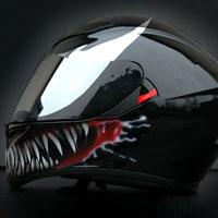 airbrush aerograf venom spiderman helmet