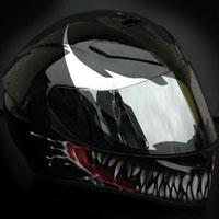 airbrush aerograf venom kask motocyklowy