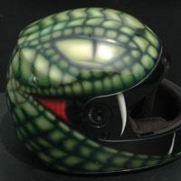 aerograf kask wąż snake helmet