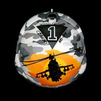 airbrush malowanie aerografem custompainting kask gpa military moro heli