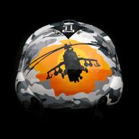 airbrush malowanie aerografem custompainting kask helmet military moro mi24