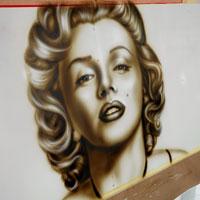 airbrush aerograf graffiti merlyn monroe portrait portret