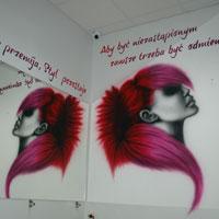 airbrush aerograf graffiti salon  hairstylist warszawa