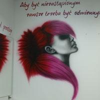 airbrush aerograf graffiti streetart salon fryzjerski hairstylist warszawa