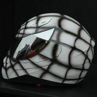 aerograf airbrush spiderman white kask helmet krakow