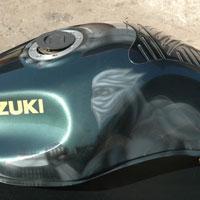 aerograf  suzuki motorcycle