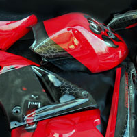 airbrush aerograf na motocyklu wilk warg