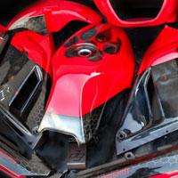 airbrush aerograf na motocyklu warg piekielny ogar