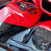 airbrush aerograf na motocyklu hell wolf motorcycle