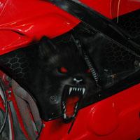 airbrush aerograf na motocyklu wilk wolf