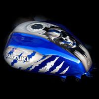 airbrush aerograf painting motocykl moto motorcycle gsxr skull czachy death