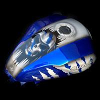 airbrush aerograf painting motocykl motorcycle suzuki gsxr skull death