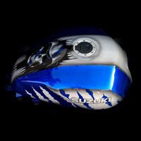 airbrush aerograf painting motocykl moto suzuki gsxr skull czachy