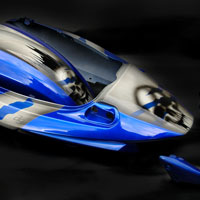 airbrush aerograf motorcycle motocykl suzuki czaszki skull metal effect