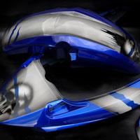 airbrush aerograf motocykl suzuki gsxr czachy czaszki aluminium metal