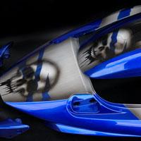 airbrush aerograf motorcycle gsxr skull aluminium effect