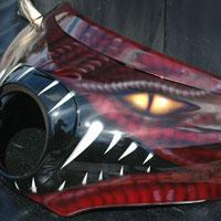 aerograf graffiti dragonhead