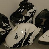 aerograf airbrush honda vfr leyla krakow - malowanie motocykli