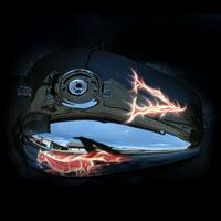 airbrush aerograf painting motorcycle chopper fire flame truefire horse vulcan
