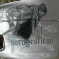 aerograf airbrush samochód opel astra